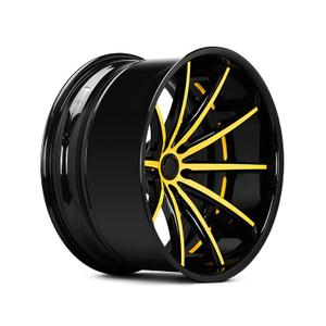DH-JH6061 Concave Forged Wheels Alloy Rims Replica Deep Yellow Wheels