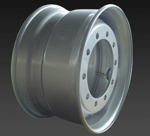 22.5*11.75 tubeless truck steel wheels with 10 hole