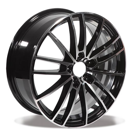 Black Machine 5 Holes Car Alloy Wheels 15/16/17/18 Inch Auto Rims