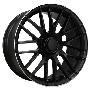 20 Inch Car Wheels Alloy 5x112 Black Spoke Wheels Rims
