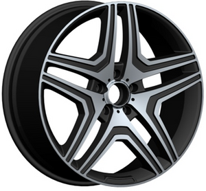 DH-LB039 Car Alloy Wheels 19 20 21 22 Inch with 5x112 Pcd Black Chrome Rims